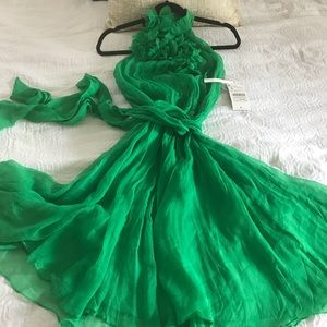 NWT green cocktail dress